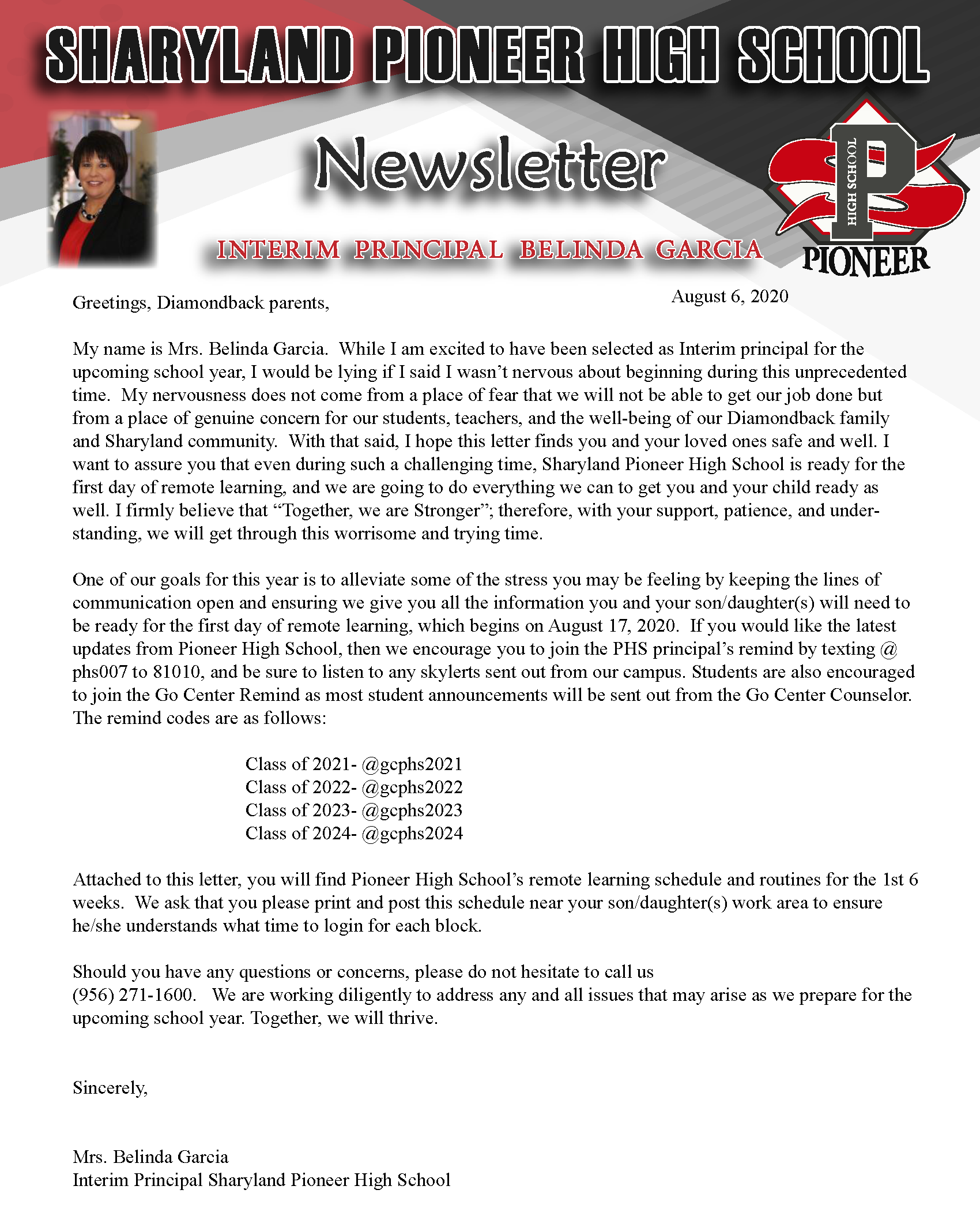 Newsletter August 2020 - English