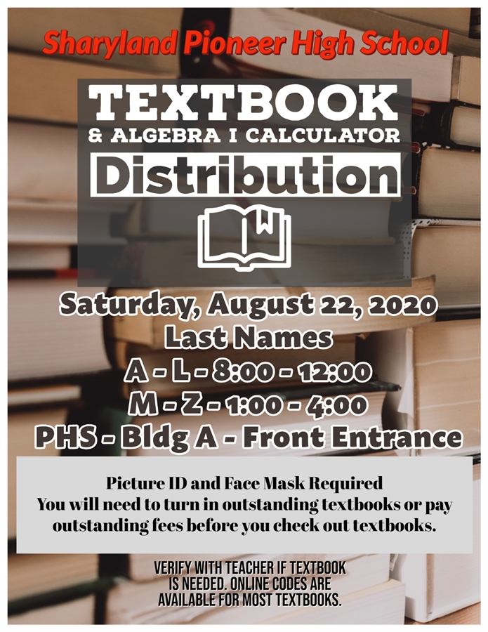 Textbook Distribution Fall Terms